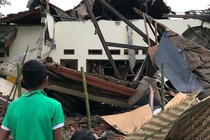 earthquake relief for lombok