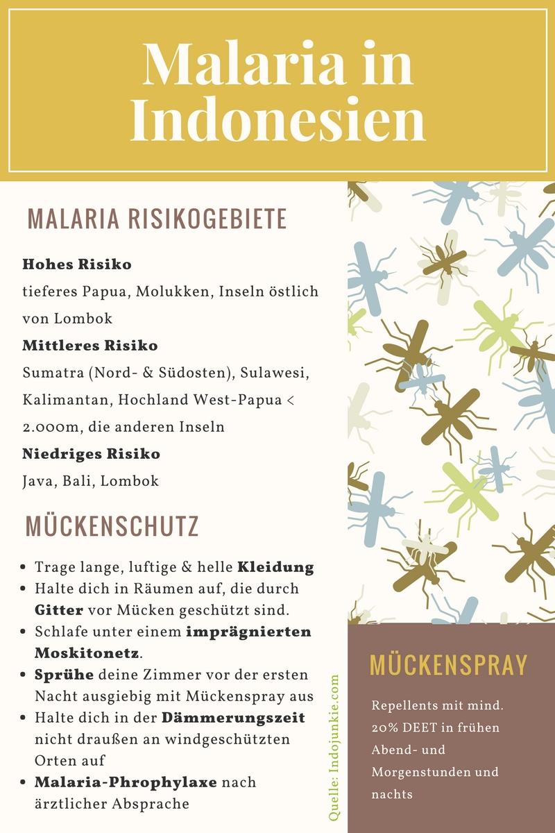 Malaria Indonesien Mückenschutz