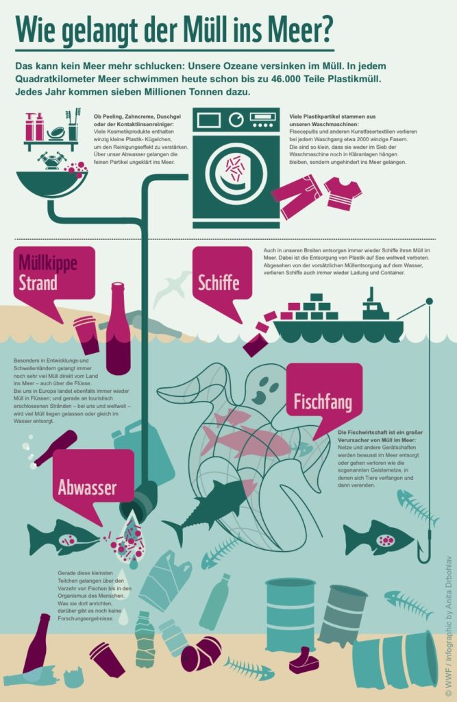 Müll im Meer Infografik