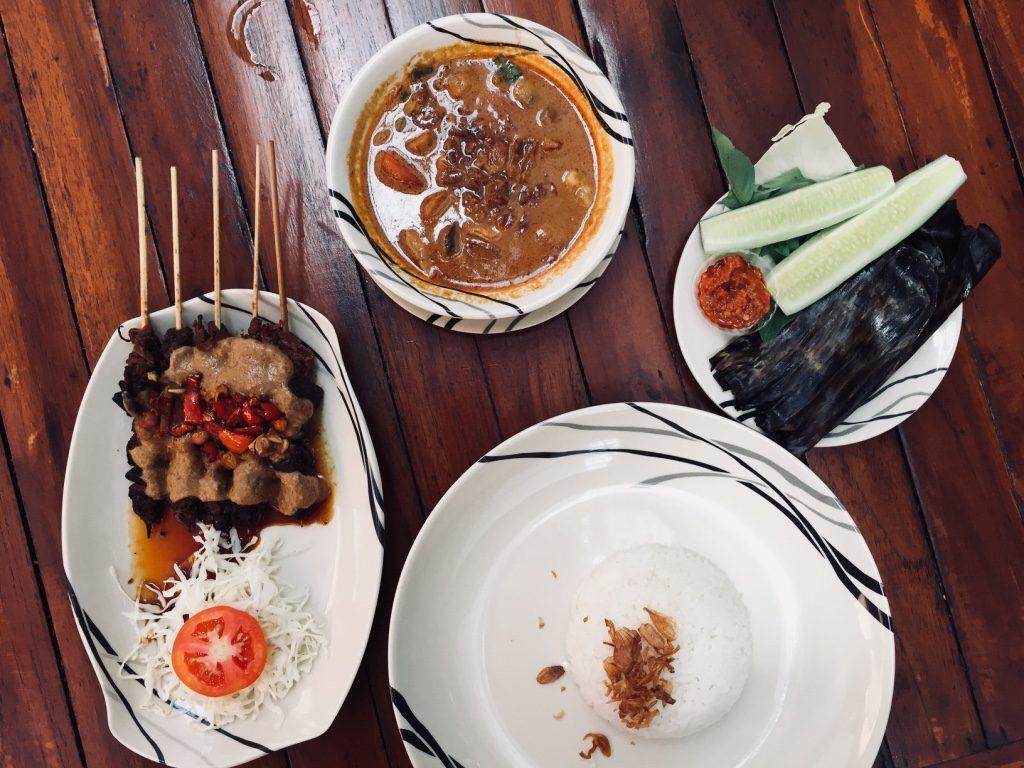 vegetarisch in indonesien Tongseng Sate Jamur